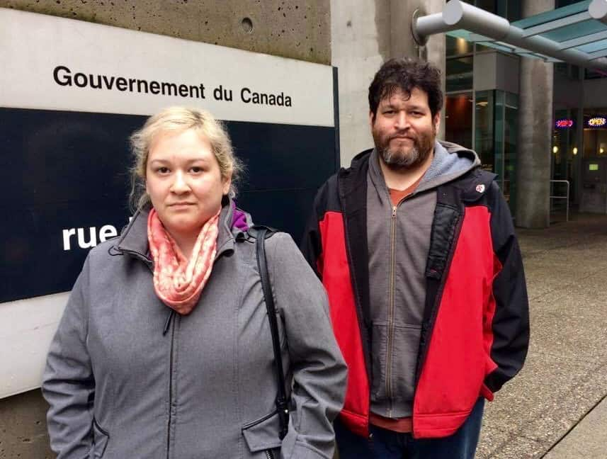 Andrew Genaille (right) and his sister Lisa are accusing the chief and council of the Peters Band of personally profiting from negotiations with Kinder Morgan. Photo by Trevor Jang